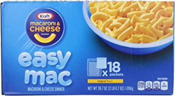18-Count Kraft Easy Original Mac & Cheese