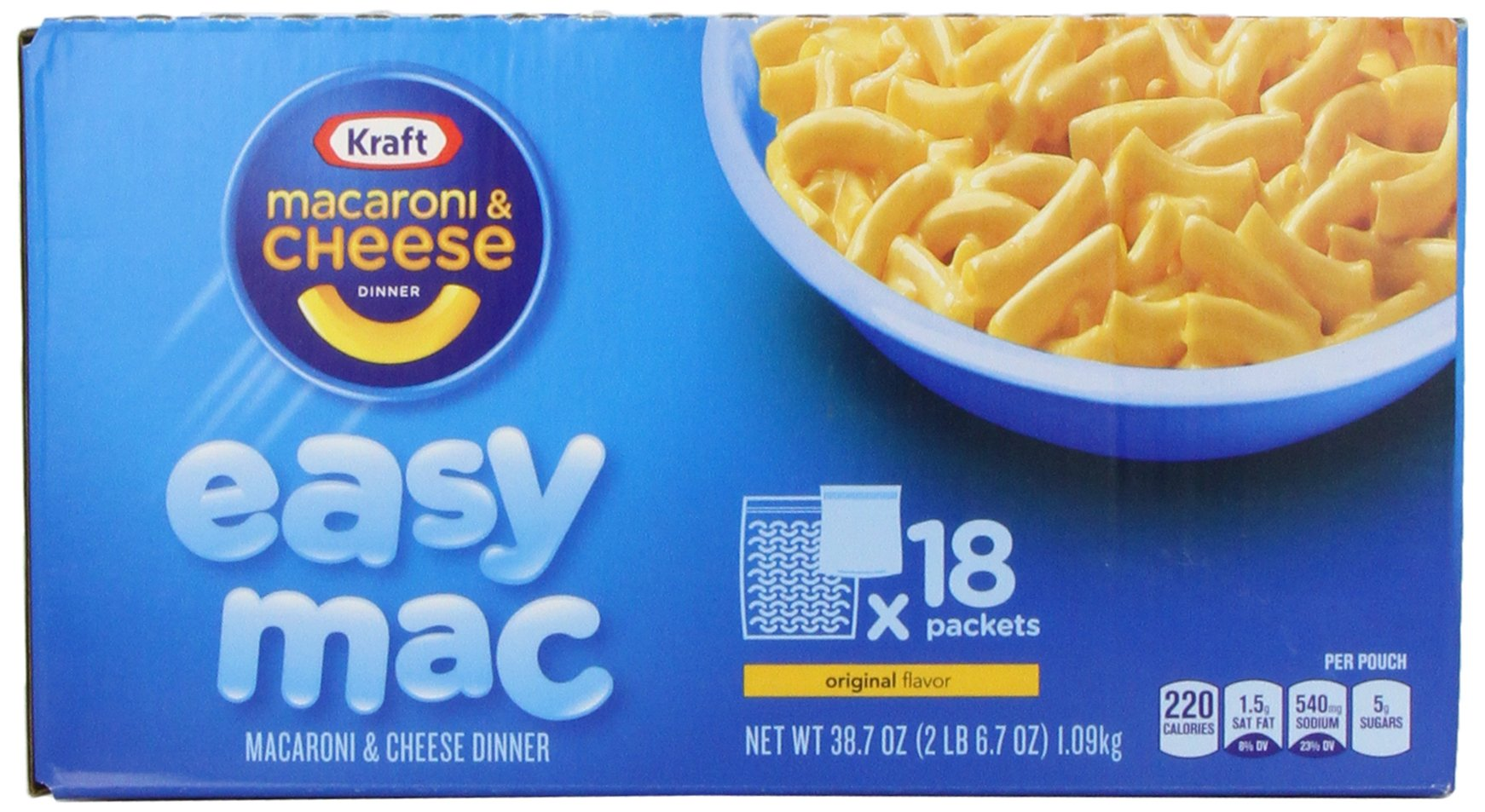 Kraft Easy Mac Original Macaroni and Cheese Dinner 18 ...