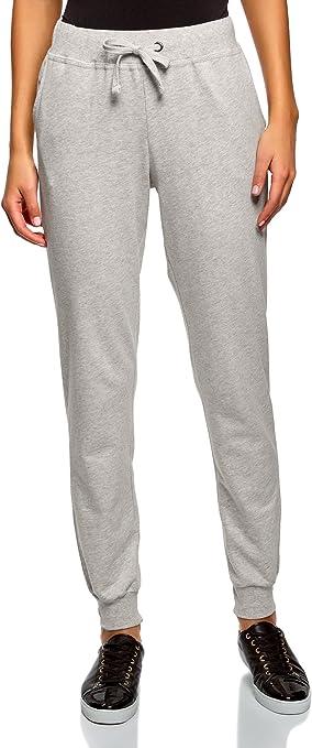oodji Ultra Mujer Pantalones de Punto (Pack de 2), Gris, ES 46 ...