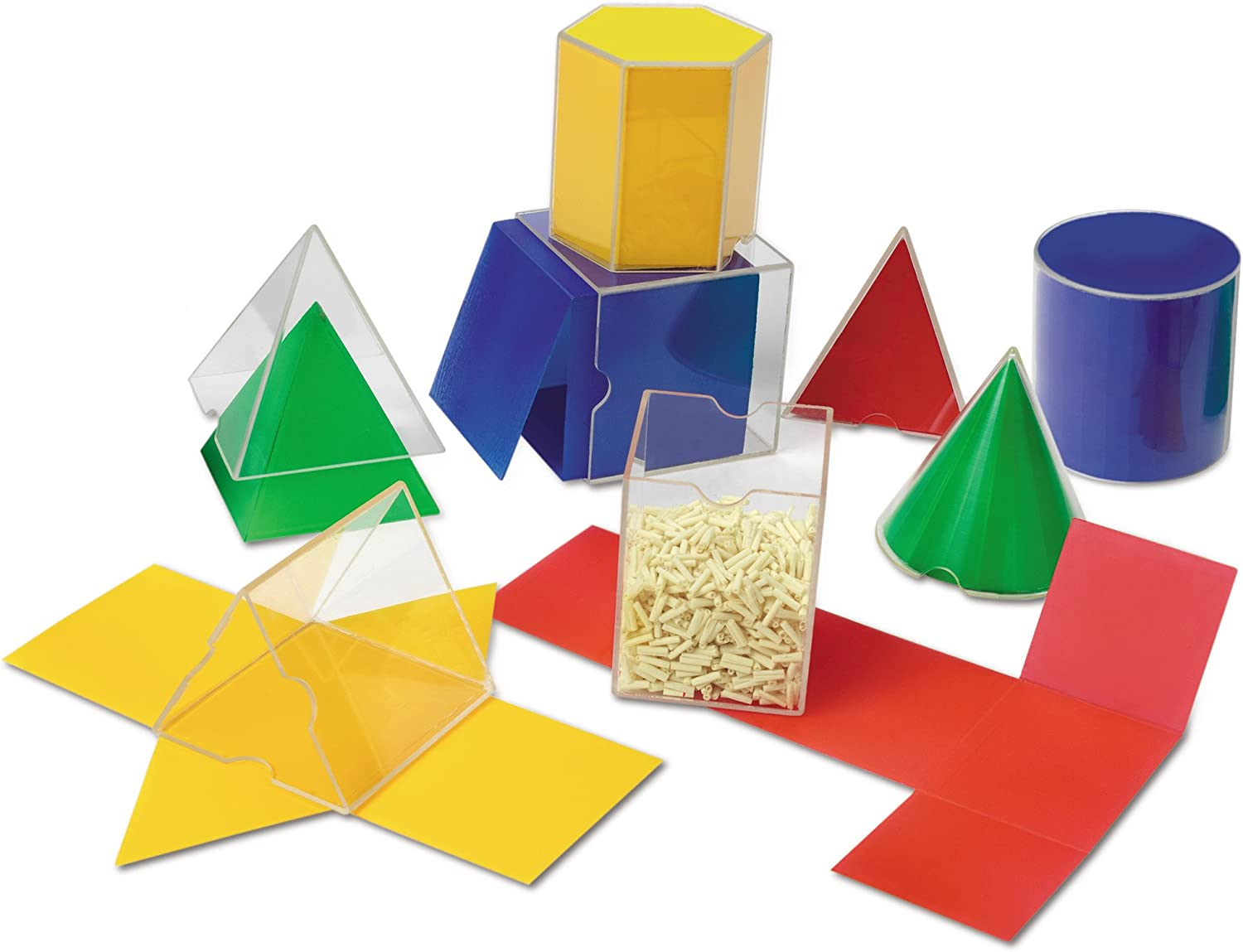 Learning Resources Folding Geometric Shapes, Geometry/Math Helper, 16-Piece Set, Ages 7+