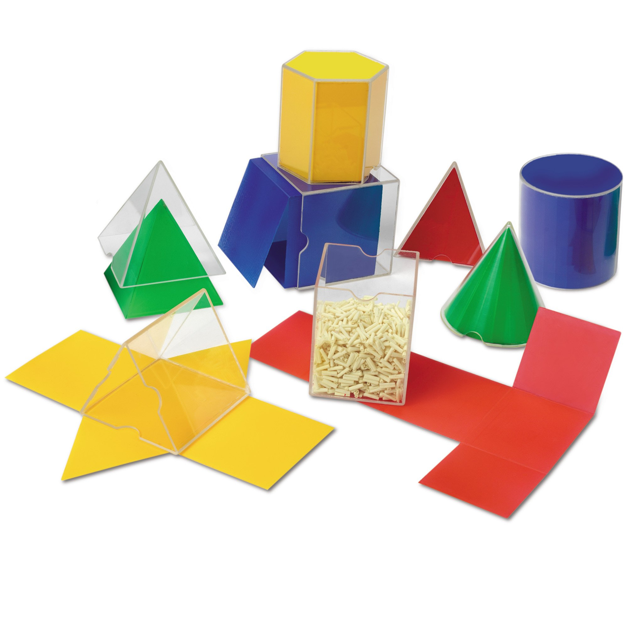 Learning Resources Folding Geometric Shapes, Geometry/Math Helper, 16-Piece Set, Ages 7+ by Learning Resources