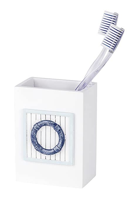 Wenko 21710100 Nautic Vaso para Cepillo de Dientes, plástico - polirresina, 8 x 11