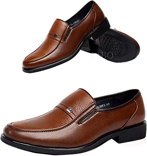 Gaorui Men Comfort Leather Loafers Driving Shoe Business Formal Oxford Slip On Moccasin