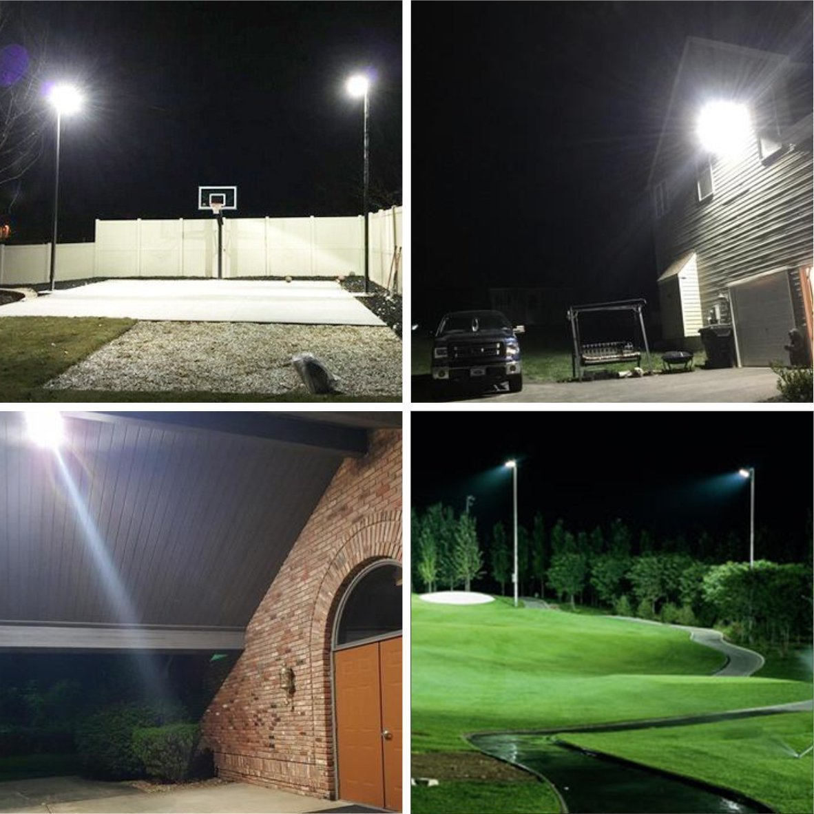 W-LITE 200W LED Flood Light, Super Bright 400 LED, 22000LM, Soft Daylight White, Full Power, 1600W Equivalent, Waterproof Outdoor Lighting, Security Lamps, 86-265V Input Voltage (200W) by W-LITE (Image #4)