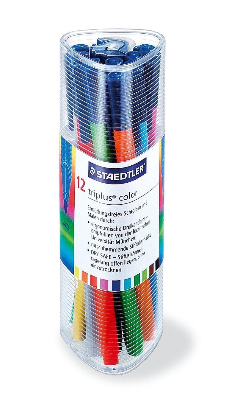 Staedtler 323 Fasermaler triplus color 1,0 mm ca 12er Dreikantbox