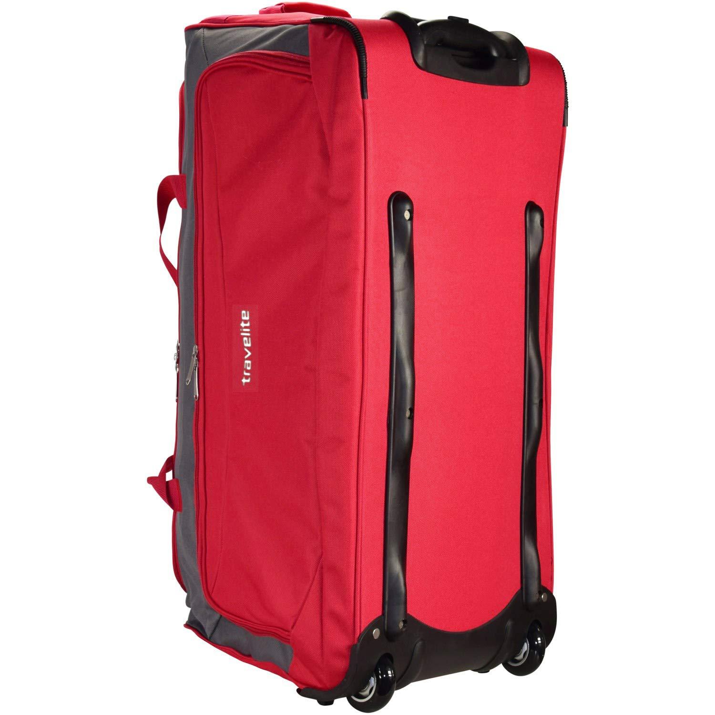 f3f67f6a41 Travelite Garda XL Traveling Bag Duffle large with Wheels Ladies Men usable  as Trolley 72 cm rot grau  Amazon.co.uk  Luggage