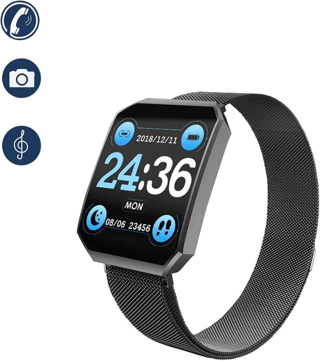 Ragzan Smartwatch Mit Fitness Armbanduhr Mit Pulsuhr Elektronik