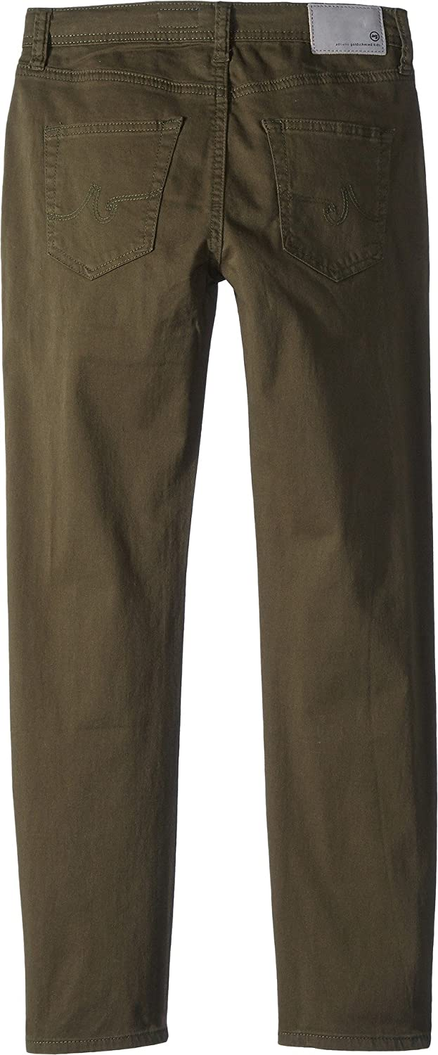 Big Kids AG Adriano Goldschmied Kids Mens The Stryker Luxe Slim Straight Sueded Twill in Green Flash