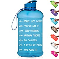HydroMATE Half Gallon Motivational Water Bottle with Time Marker Large BPA Free...