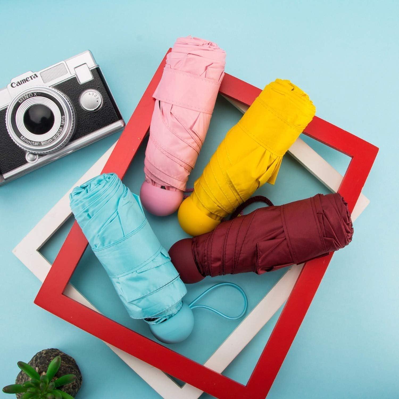 Amazon.com: Paraguas mini cápsula para mujer con bolsillo ...