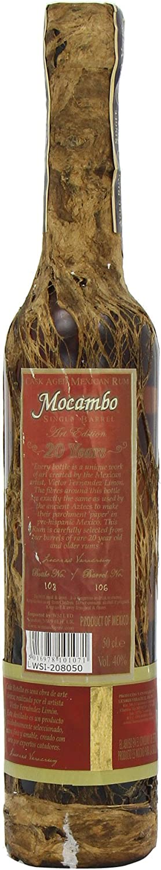 Mocambo Ron Añejo 20 Años Barrica Selecta Premium Edición de Arte 40% - 500 ml