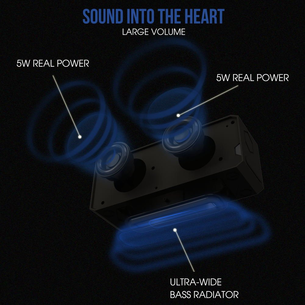 NUEVO Panal por Sounder 10 W Bluetooth 4.0 altavoces de alta fidelidad, color negro mate: Amazon.es: Electrónica