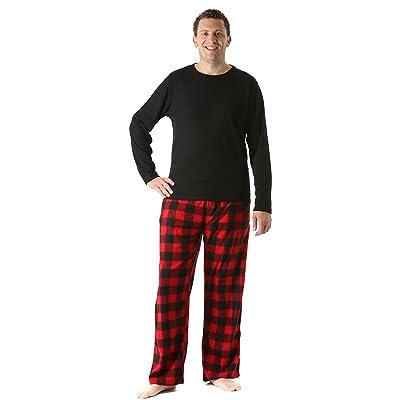 #followme Polar Fleece Pajama Pants Set for Men Sleepwear PJs at Men's Clothing store