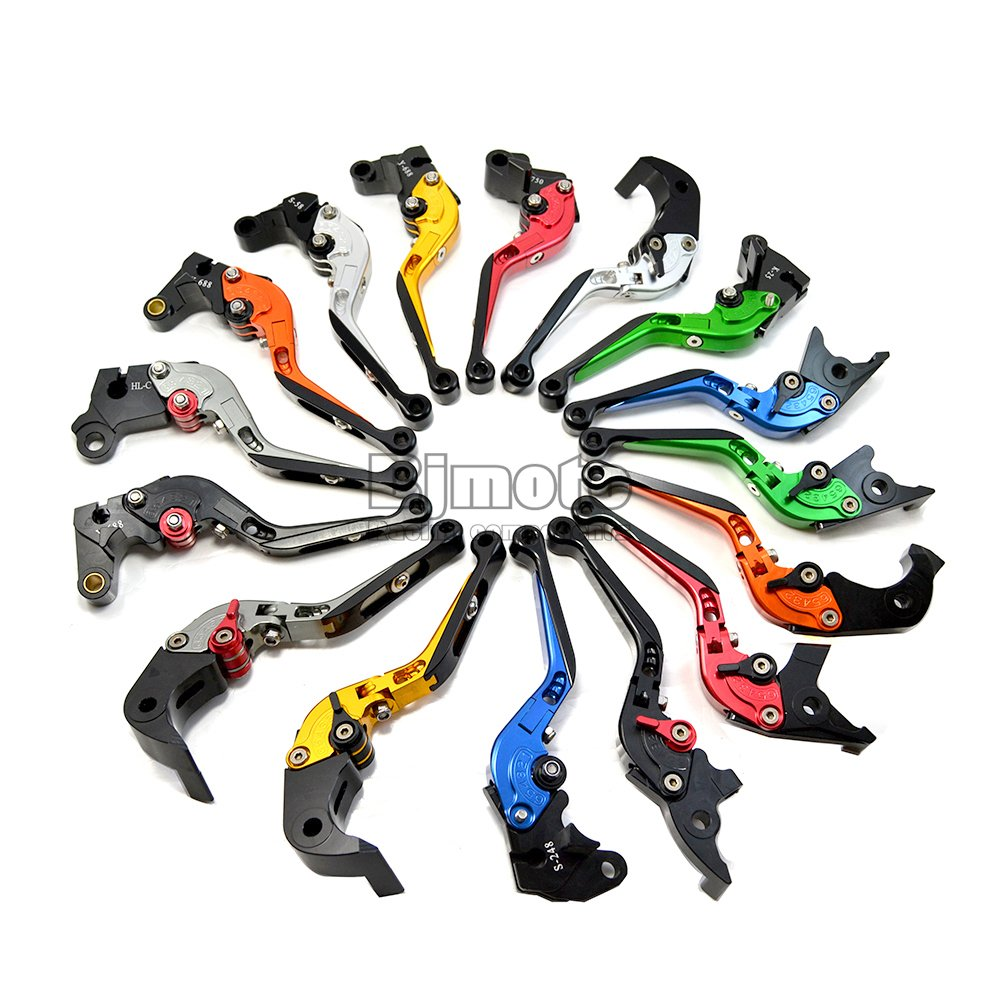 ajustables incluye 1 maneta de freno y 1 maneta de embrague extensibles plegable Lote de 2 manetas para motocicleta BJ Global