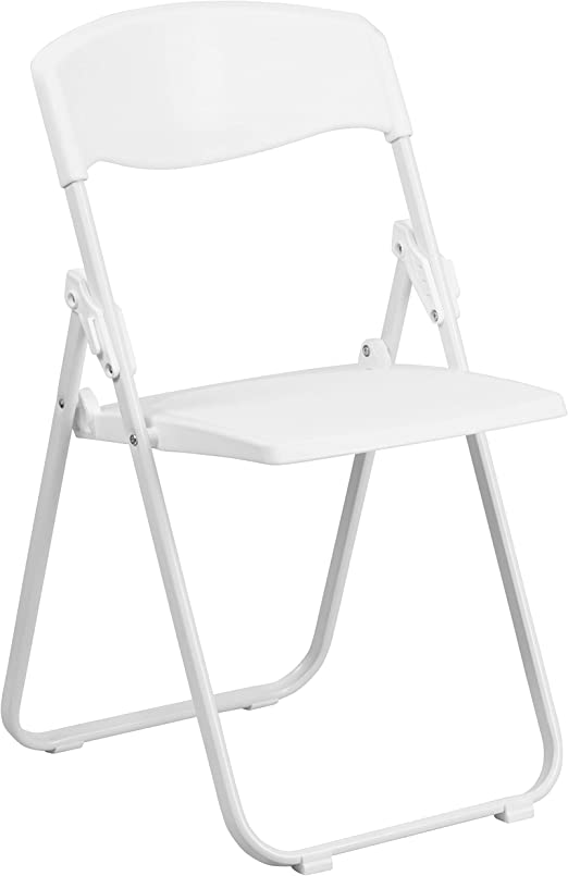 Amazon Com Flash Furniture Hercules Series 500 Lb Capacity Heavy Duty White Plastic Folding Chair With Built In Ganging Brackets Furniture Decor