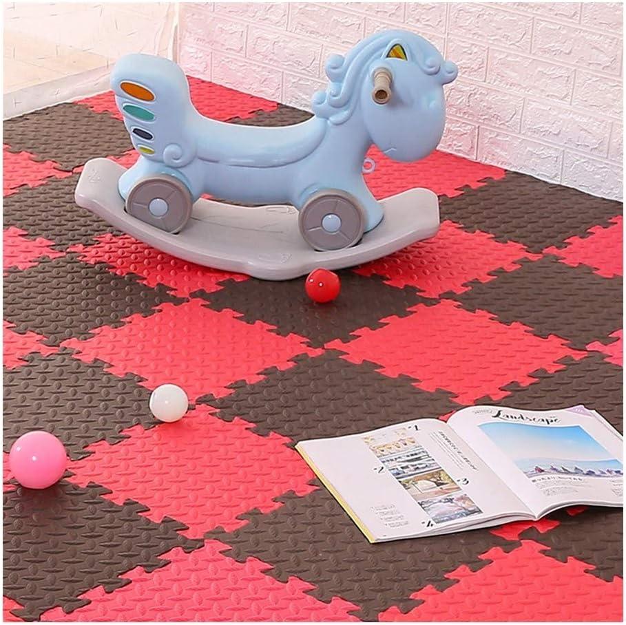 A 60X60X1.2CM-9PCS WAJIEFD Puzzlematte Protective Boden Fliesen Baby Spielen Workouts Yoga-Matte Interlocking Multi Farbe Daheim Schlafzimmer, 2 Größen, 16 Farben (Farbe   G, Größe   30X30X1.2CM-24PCS)