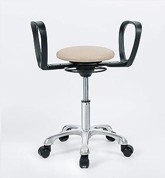 balimo Diseño movimiento silla - Assist 5 de estrella de rollo Chrome con arena farbener Asiento: Amazon.es: Oficina y papelería