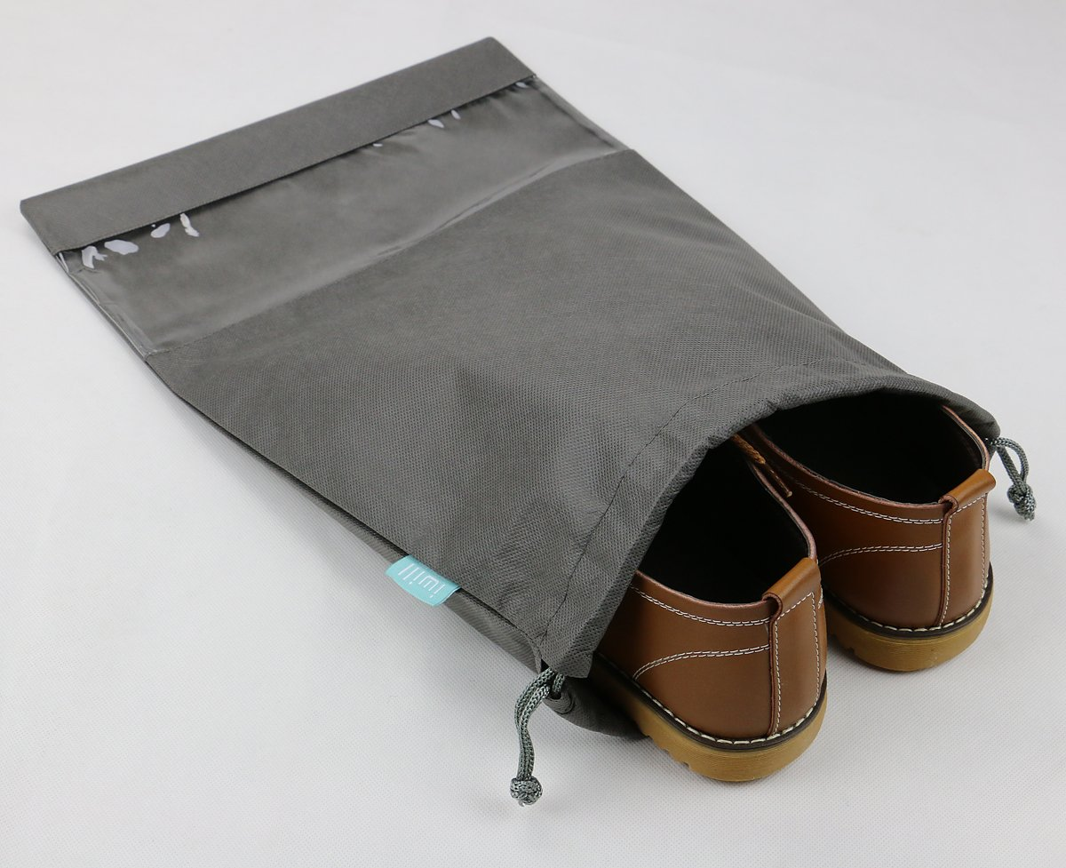 iwill CREATE PRO Portable Travel Shoes Storage Organizer Pouch for Suitcase, Gray, 10pcs by iwill CREATE PRO (Image #2)