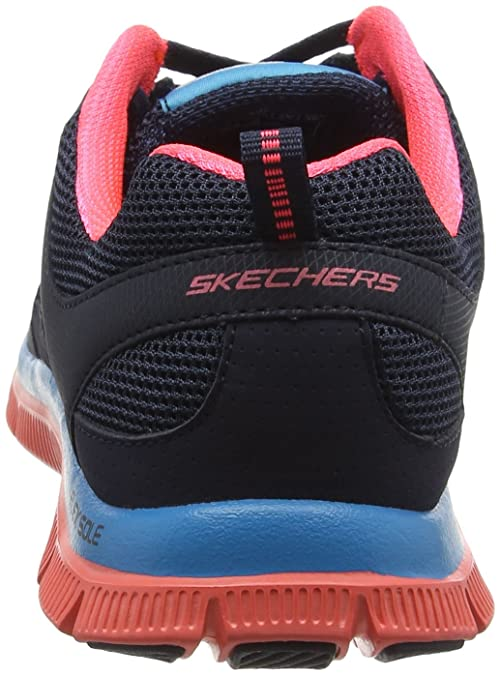 5330078ef1d7 Skechers Women s Flex Appeal Spring Fever Trainers Blue Size  3   Amazon.co.uk  Shoes   Bags