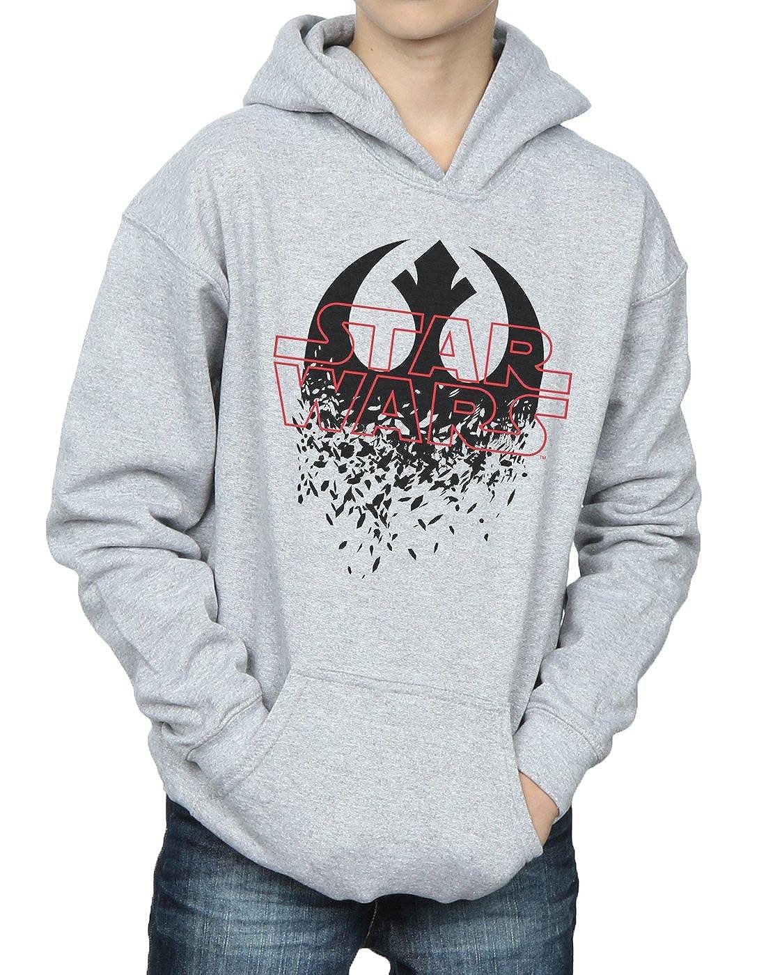 54ce709744 STAR WARS Bambini e Ragazzi The Last Jedi Shattered Emblem Felpa con ...