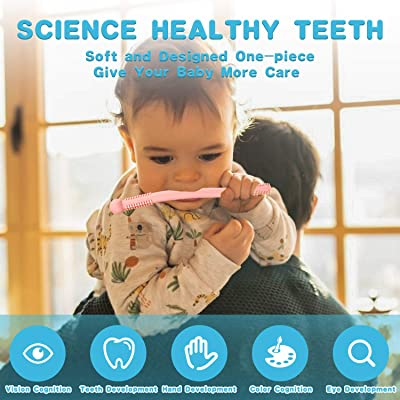 Hollow Teething Tubes Flexible Baby Teething Tubes with Cleaning Brush for Baby Girls and Boys ADPPY 5PCS Babies Teether Tubes Toys Set 3-12 Months BPA Free//Dishwasher and Refrigerator Safe
