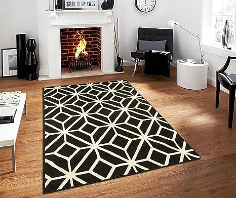 Amazon Com Black Moroccan Trellis 2 0x3 0 Area Rug Carpet Black