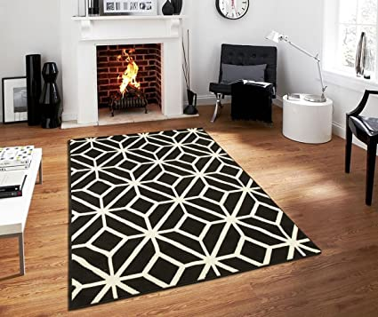 Black Moroccan Trellis 2u00270x3u00270 Area Rug Carpet Black White Entrance Rug  Washable