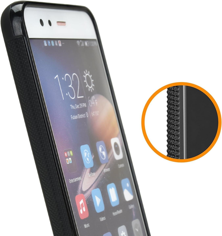 Caso para Huawei P10 Lite Negro Anti-Rasgu/ño Mulbess Slim Funda para Huawei P10 Lite Carcasa Ligera Silicona Suave TPU Gel Case Cover de Protecci/ón Antideslizante Anti-Golpes