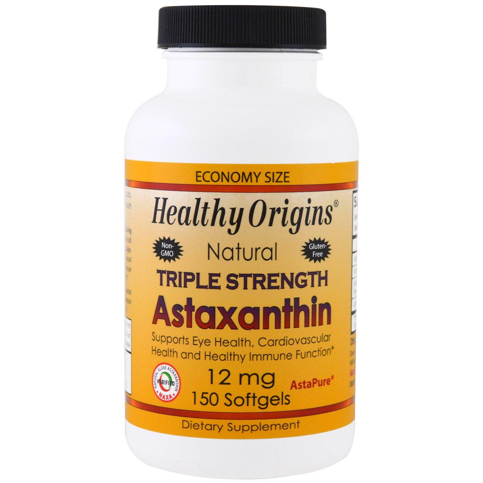 Healthy Origins, Triple Strength Astaxanthin, 12 mg, 150 Softgels - 3PC