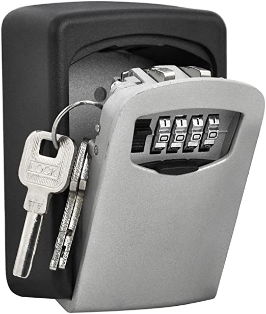 TRIXES Caja Fuerte de Montar en Pared Llave para Cerrar de Combinación - Caja de Seguridad para Llaves: Amazon.es: Hogar