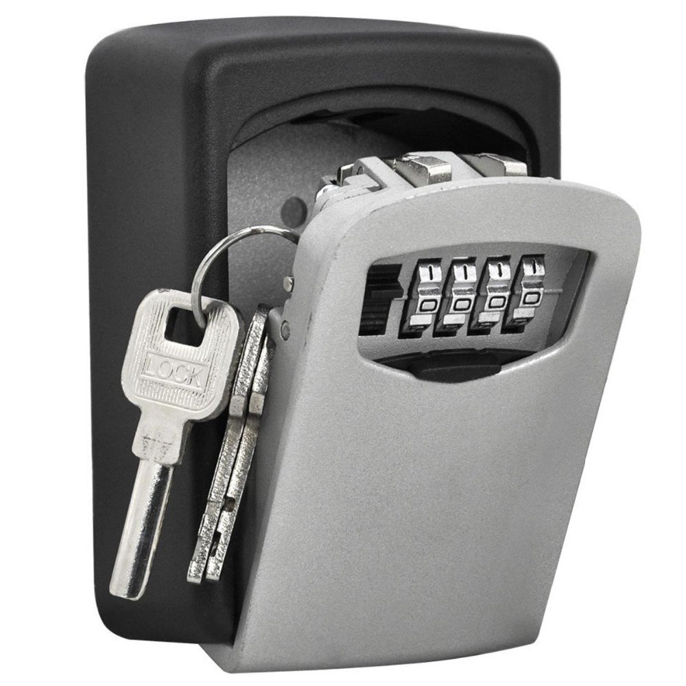 TRIXES Caja Fuerte de Montar en Pared Llave para Cerrar de Combinació n - Caja de Seguridad para Llaves ZS19