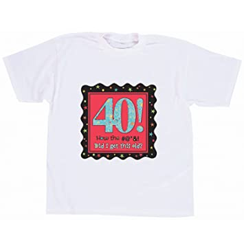 Adult 40th Birthday T Shirt Size XL Party Accessory