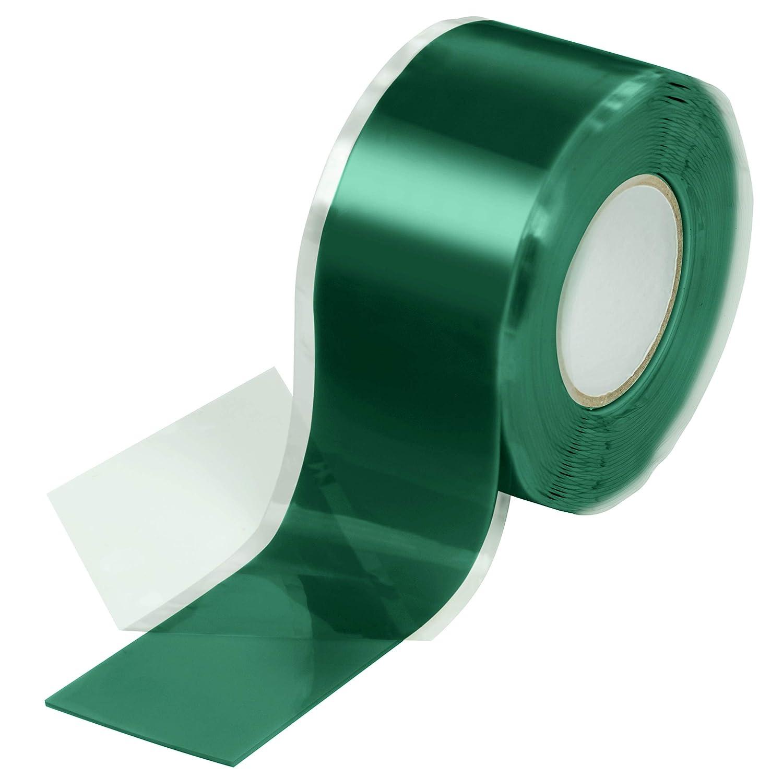 Poppstar 1x 3m Selbstverschweißendes Silikonband Silikon Tape Reparaturband Isolierband Und Dichtungsband Wasser Luft 25mm Breit Grün Baumarkt