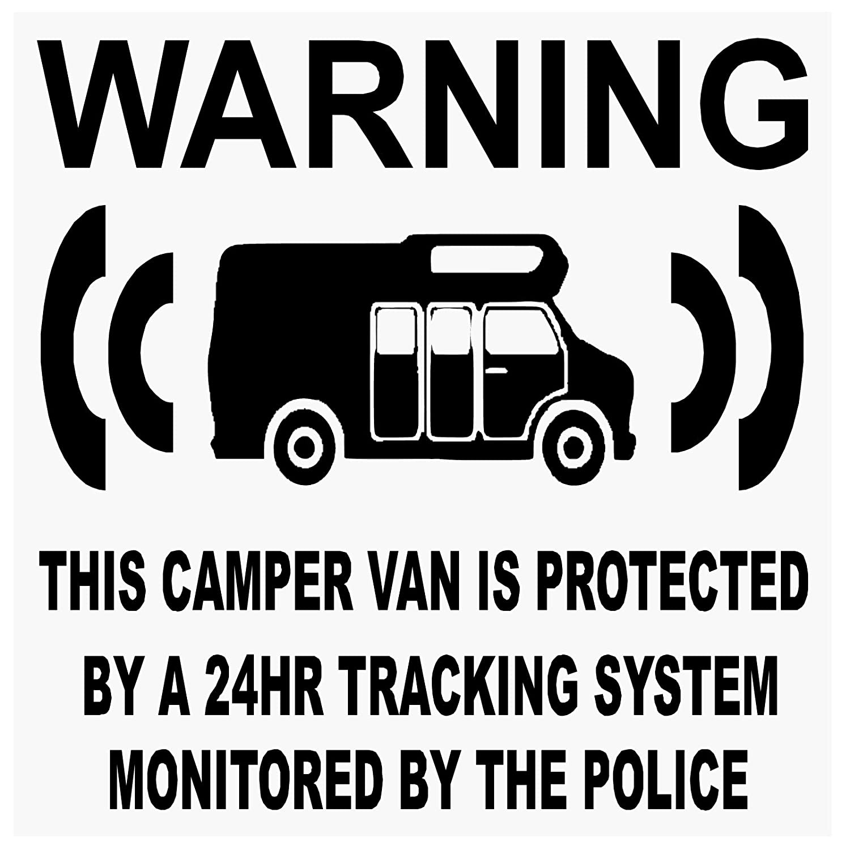 6 x Camper Van Dummy/Fake GPS –  black-tracking System Gerä t Unit –  Campervan Security Alarm Warnung Fenster Aufkleber –  Police ü berwacht Vinyl Schild Platinum Place