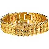 OVERMAL Fashion Jewelry Wholesale Fashion Jewelry Plated 18K Gold Men's Gold Bracelet