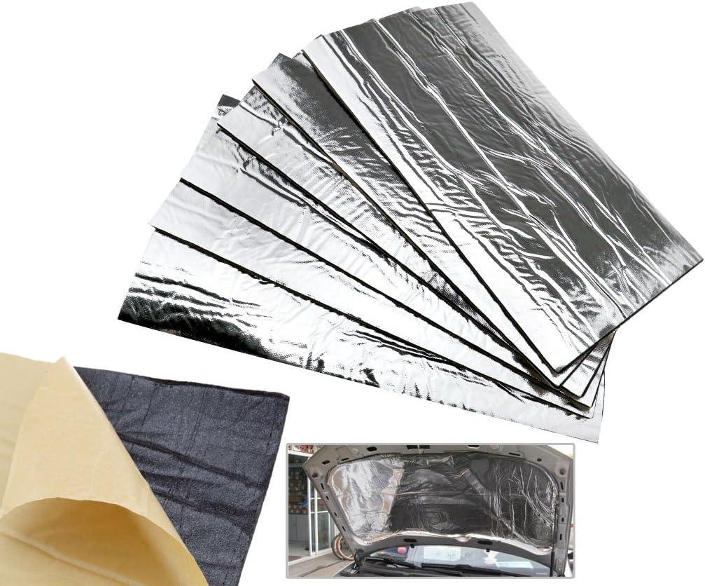 12 x Glass Fibre Car Engine Bay Bonnet Insulation Noise Hood Sound Proofing Heat