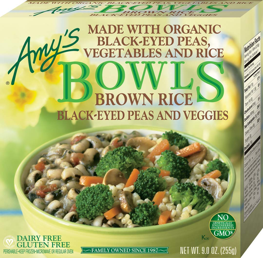 Amy's Bowls, Black-Eyed Peas & Veggies, 9 oz (Frozen) by AMYU9
