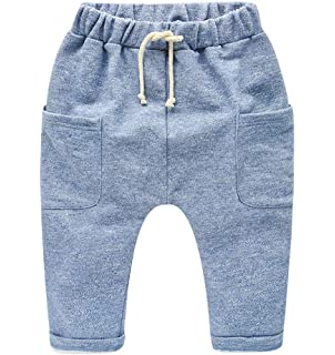 KIDS TALES Baby Boys Girls Thick Harem Stars Elastic Trousers Bottoms Ankle Pants