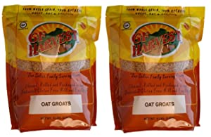 GF Harvest Gluten Free PureOats Oat Groats Bag Non-GMO, 5 lbs., 2 Count