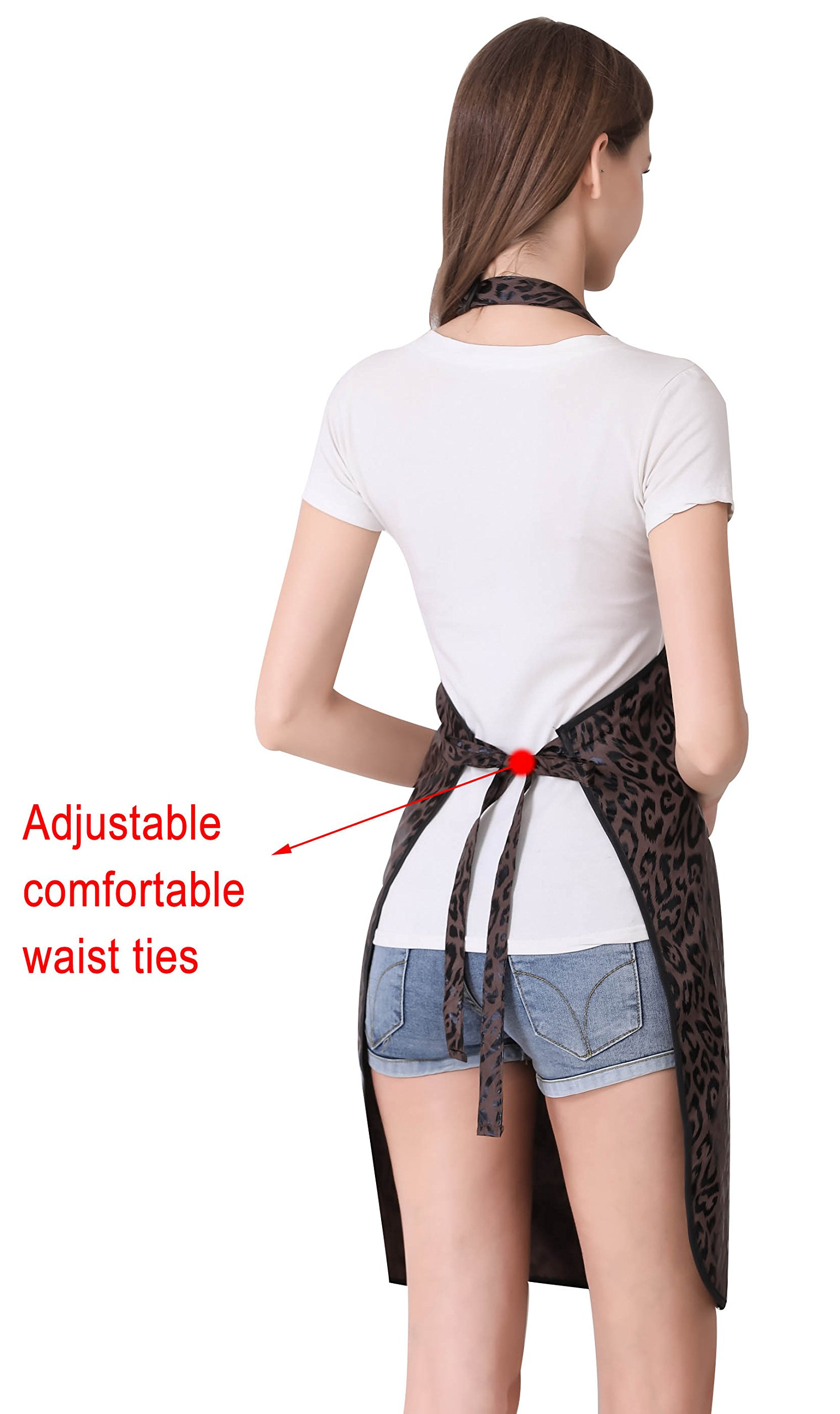 Hair Stylist Apron for Salon Hairdresser, Barber Haircut Styling Apron With Pockets-Leopard Print by Perfehair (Image #4)