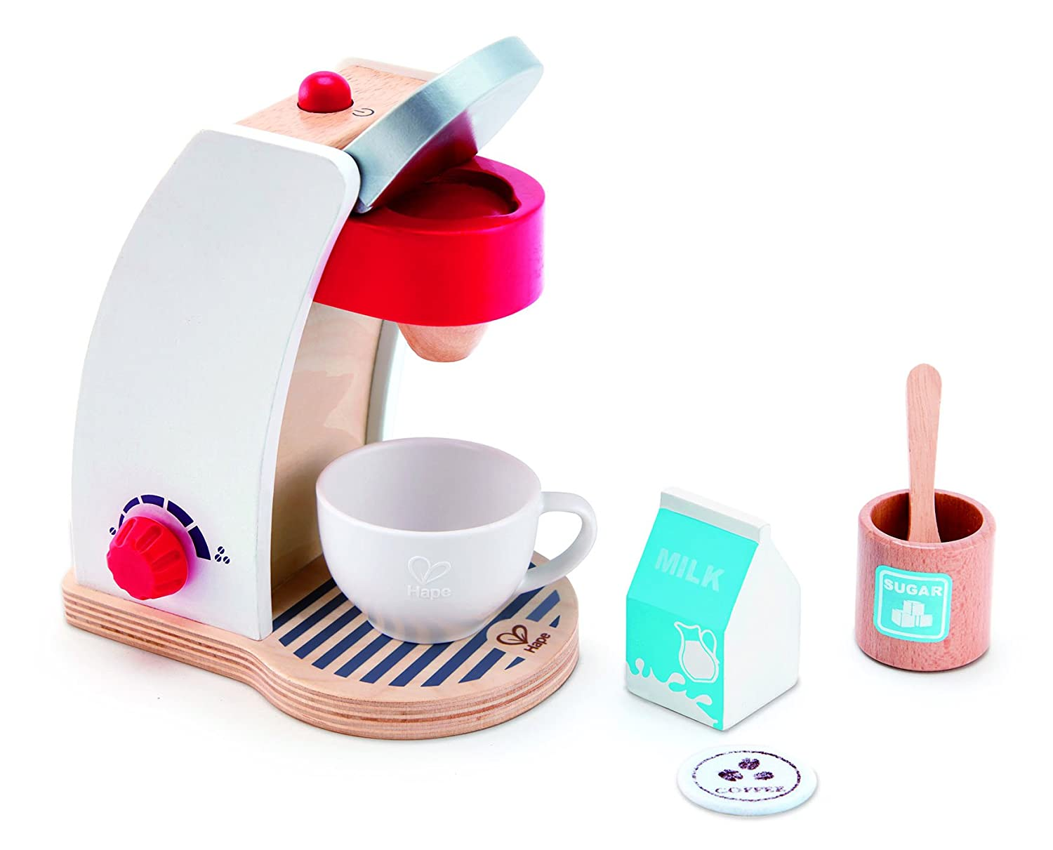 Hape Coffee Maker Play Set, (6 Pieces)
