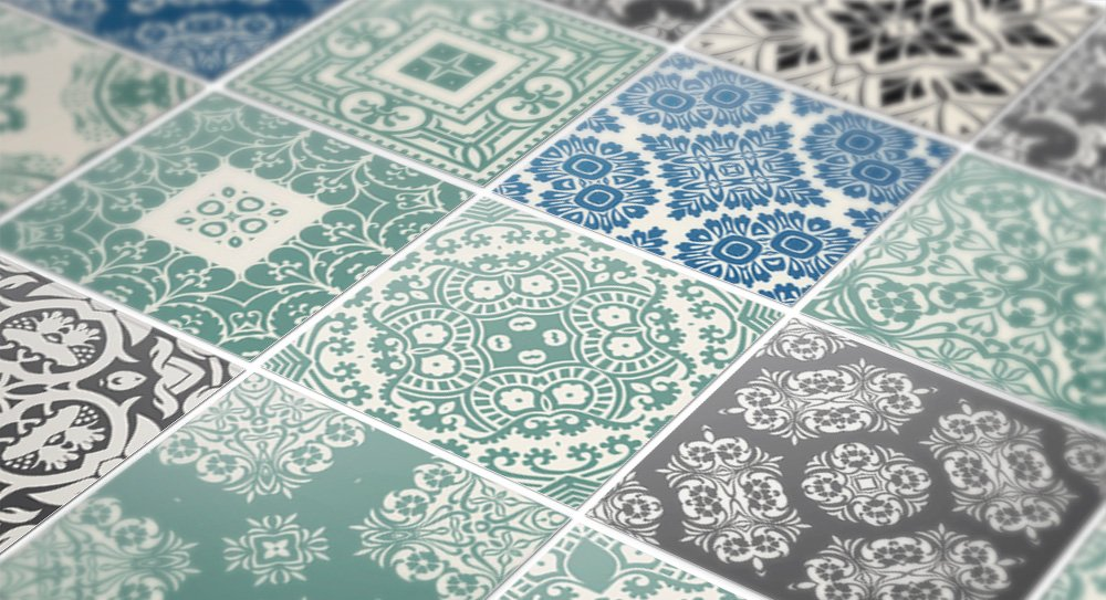 Adhesivos para pared (36 unidades, diseño de azulejos ...