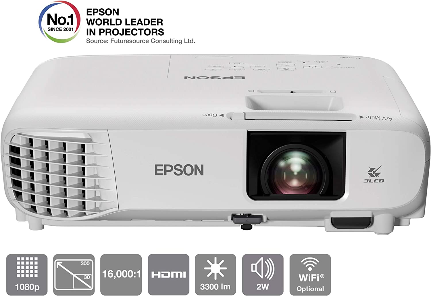 Epson Eh Tw740 Home Cinema Lcd Projector 3300 Lumen Computers Accessories
