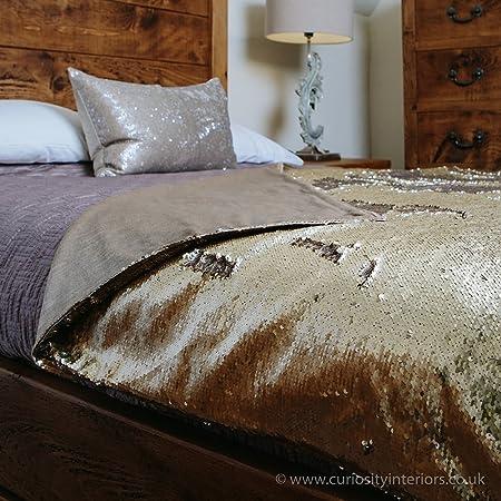 Voyage Maison Elixir Galaxy Sequin Throw Gold Silver Sequined Extraordinary Silver Sequin Throw Blanket