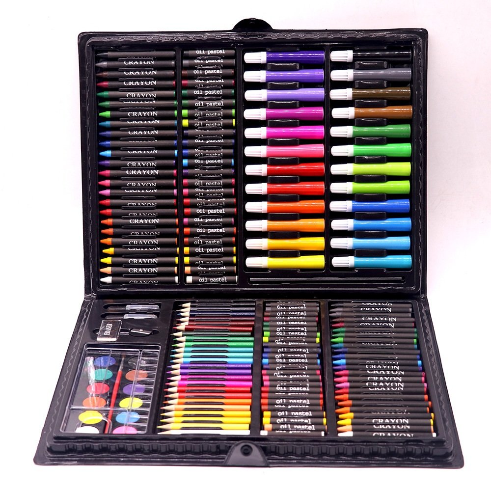 Children's Stationery Brush 168 Painting Set Color Lead Crayons Primary School Art Learning Stationery
