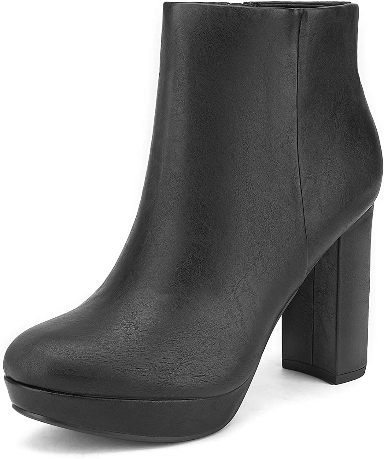 DREAM PAIRS Womens Stomp High Heel Ankle Boots