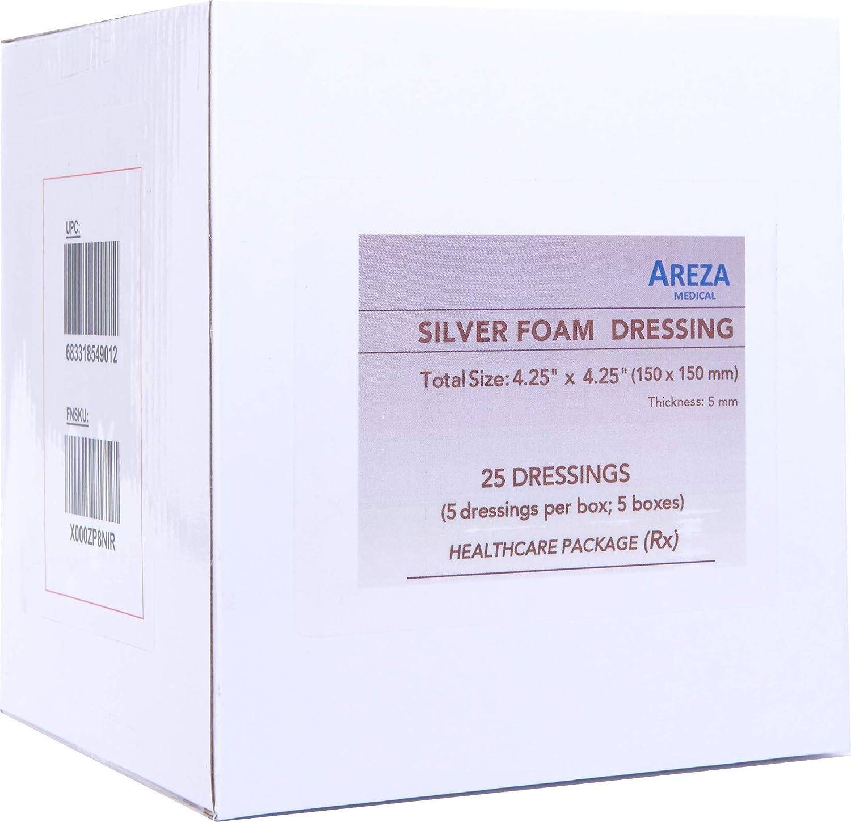 Amazon Silver Foam Dressing Sterile 425x425 25 Dressings