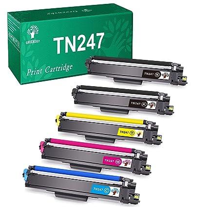 GREENSKY Cartucho de Tóner Compatible Repuesto para Brother TN247 ...