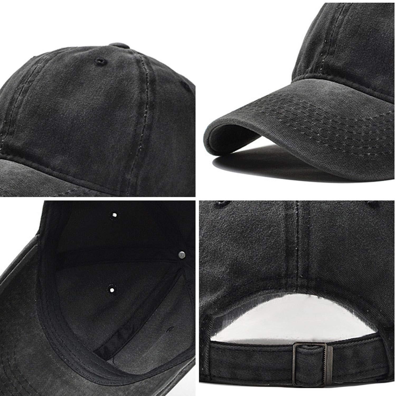 peals Baseball Cap Mens Adjustable Cap Casual Leisure Hats Solid Color Fashion Summer Fall Hat Caps,Black