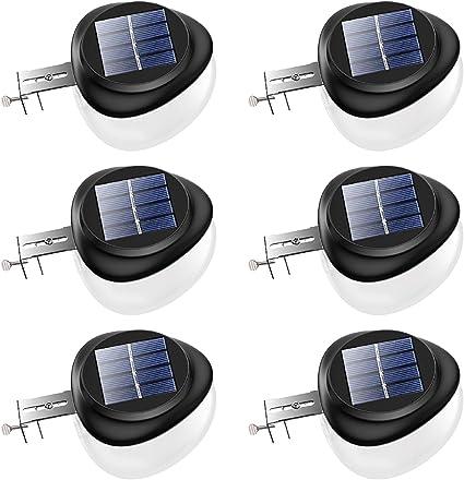 US LED Solar Powered Lights Outdoor Security Wall Fence Gutter Garden Lighting